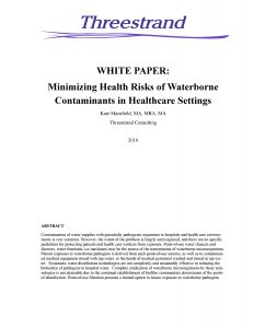 White Paper on Healthcare & Water